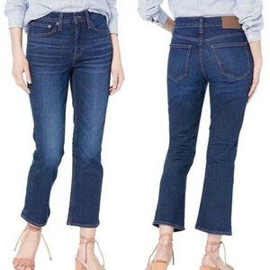 """J Crew Mercantile Crop Flare Jeans 9"""" High Rise 30"""